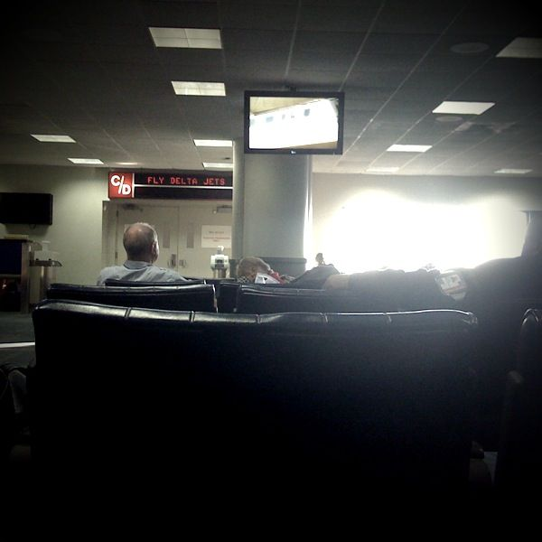 Waiting in JFK for a flight to India.