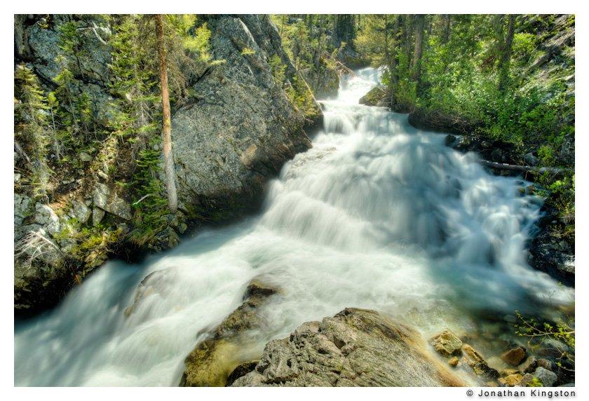 Waterfall near Petit Lake, Idaho (HDR).