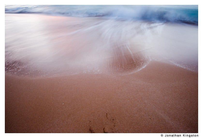 Waves, Papohaku beach, Molokai Hawaii.