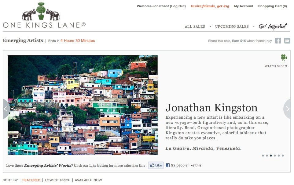 Jonathan Kingston Experiencing a new artist is like embarking on a new voyage—both figuratively and, as in this case, literally. Bend, Oregon-based photographer Kingston creates evocative, colorful tableaux that really do take you places.