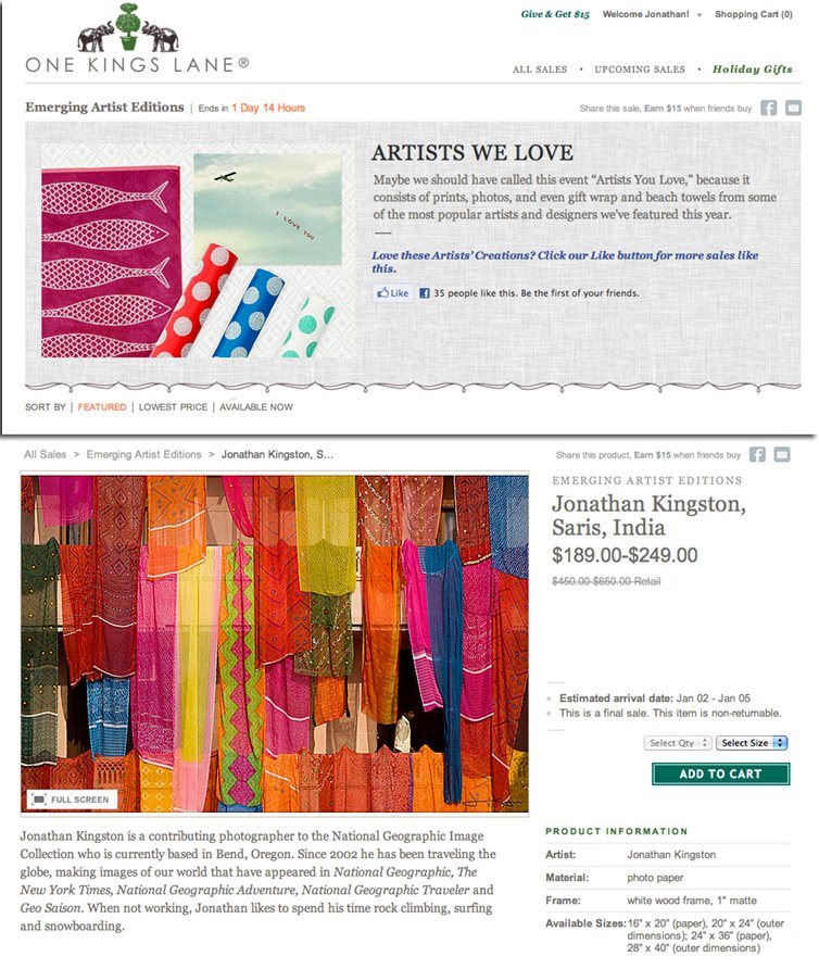 Jonathan Kingston On One Kings Lane Artists We Love Sale The