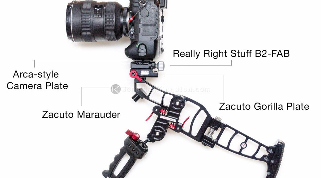 Zacuto Marauder with Really Right Stuff B2-FAB attached to the Gorilla Plate.